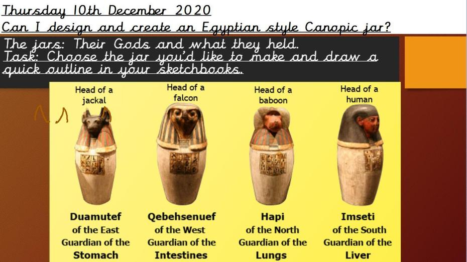 Design and complete your own canopic jar