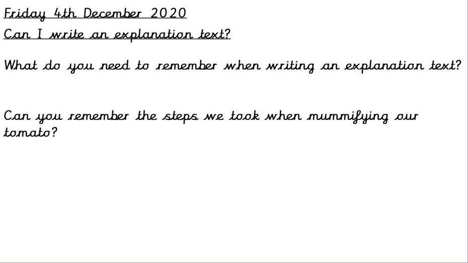 Use the mummification text to write one for mummifying tomatoes