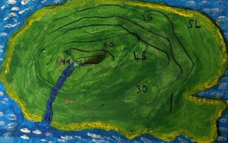 Lovely relief map constructed by Meena