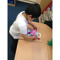 We decorated bags with beautiful butterflies for our story 'The Very Hungry Caterpillar'.