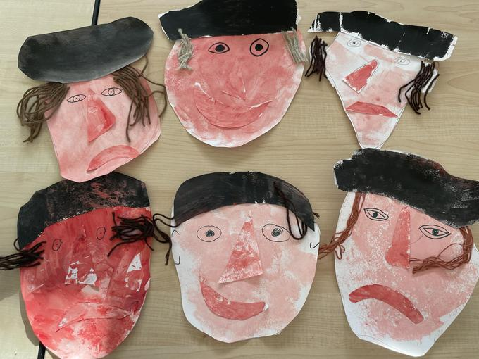 We created our own Henry VIII using collage skills.