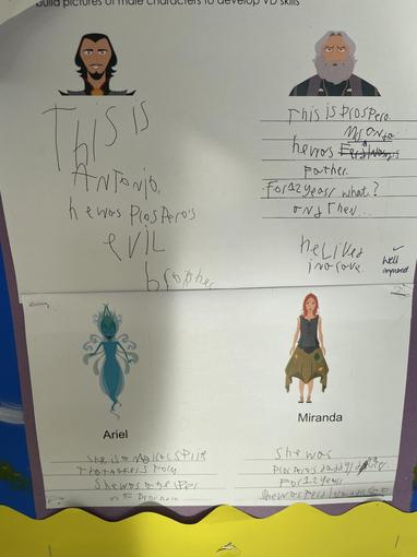We have been using our text detective skills to find character descriptions.