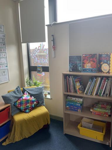 Our reading corner.
