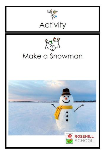 Follow the steps to make a snowman in the document attached.