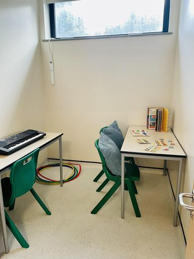 This is a quiet work room where we can do focused individual tasks.
