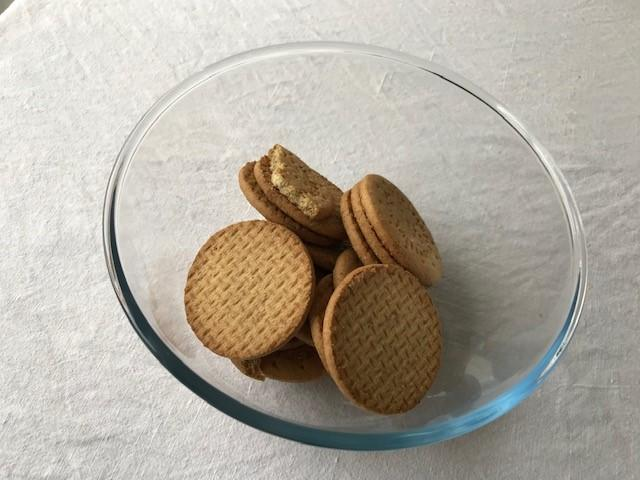 Place your digestives in a bowl