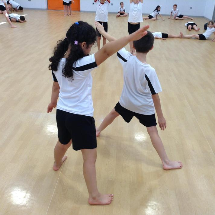 Enjoying our topic of dance in P.E. lessons