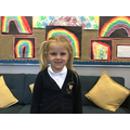 Esme M in 1R has been chosen for being helpful in class