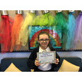 Ruby in 6R for contributing in class and always helping others.