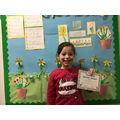 Khloeanne M in 1R - For her super listening and hard work in Maths