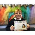 Brayden in 5W for always trying hard and making amazing contributions in class.