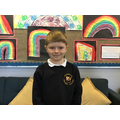 Miles D in 4R for always wearing a smile on his face and for working hard
