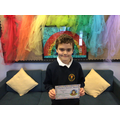 Blake C in 6W - For developing his confidence and taking pride in his work.