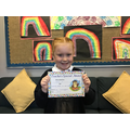 Orla M in 2R for working hard in all lessons