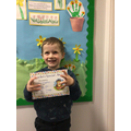 Christopher R in 1W - For excellent effort with telling time