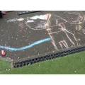 Drawing large maps using chalks outside