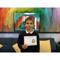 Oliver in 5W for his amazing homework and consistent effort.