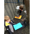 Making our own maps - looking over the school fenc