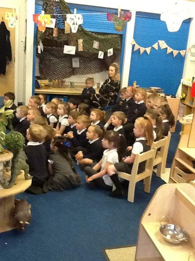The children all listened attentively to the story