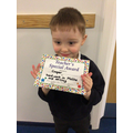 Cooper C in RR - For working hard in maths & writing
