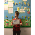 Dominic T in 2R - For having a fantastc attitude to learning