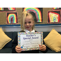 Emily-Rose in RW for her positive attitude to learning