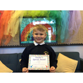 Harvey in 1R for working hard in phonics