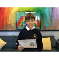 Thomas W in 6R for his hard work, determination and perseverance.