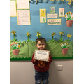 Tyler-Ray M in RR - For his excellent effort in independant writing
