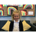 Reeva B in 1R for working hard all the time and helping out in the classroom