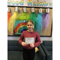 Austeja Z in 6W - For consistently being on task & producing work to an excellent standard