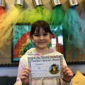 Lacey G in 5W - For having a positive attitude and trying hard all week