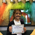 Eva P in 4W - For always being on task, helping others and having excellent manners