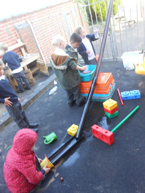 The children were so engaged in their child-led activity :)