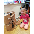 Mrs Sutton's little girl built her own marble run