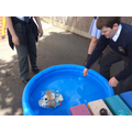 Testing our boats
