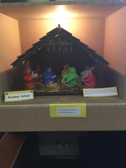 Year 8A created this lovely nativity scene!
