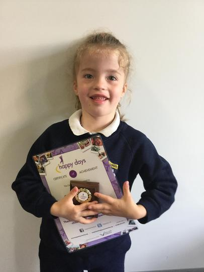 Jasmine raised £100 for our Happy Days Charity!