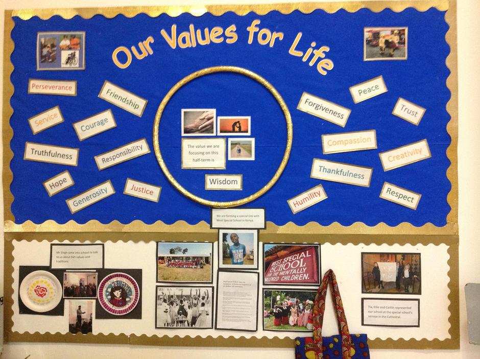 Our Values for Life Board
