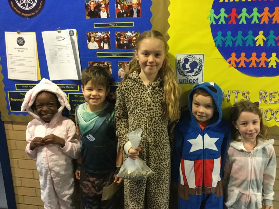 Pupil Parliament UNICEF onesie day 2019
