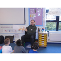 Adam Jewitt author of Biker Bunny came to see us.