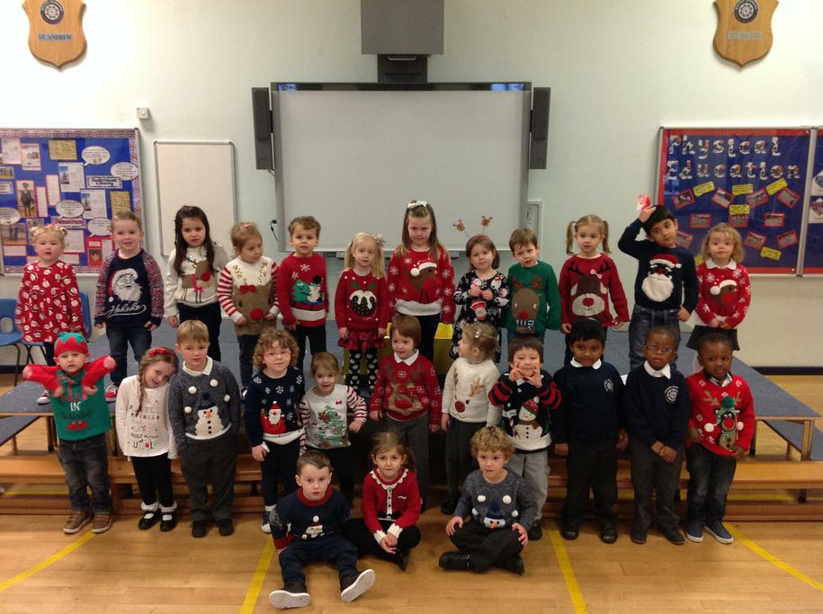 The children enjoyed performing our Christmas show