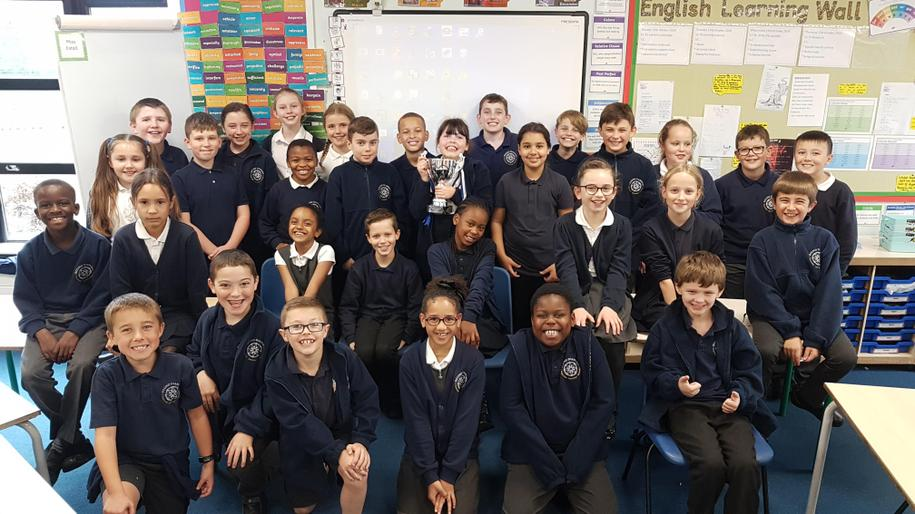 We won the the attendance trophy! Hurrah for Cliff!