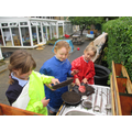 Our mud kitchen is great fun.