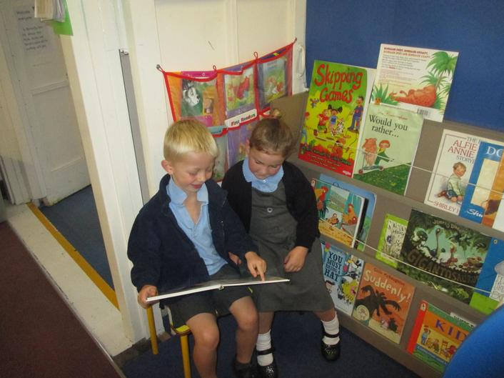 It is lovely to share a book with a friend.