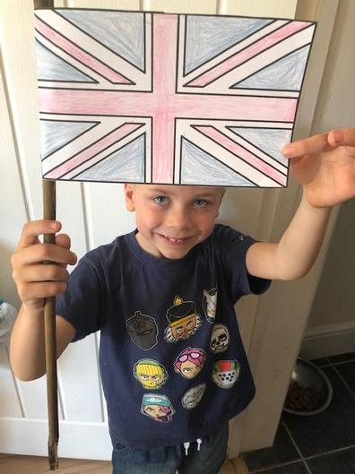 Malakai made a Union Jack