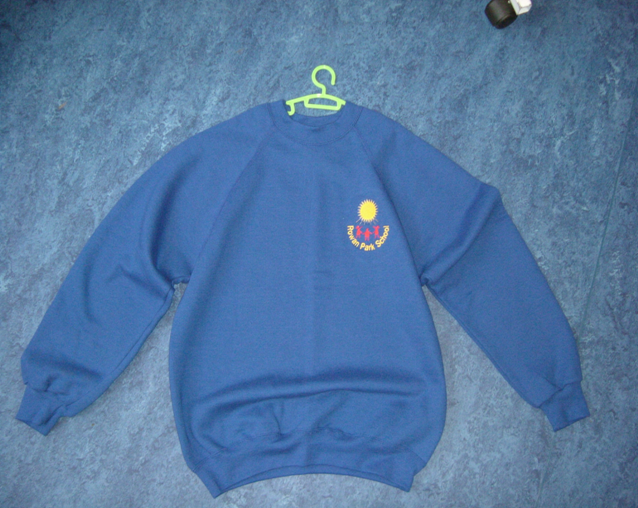 Blue sweatshirt for all secondary pupils.