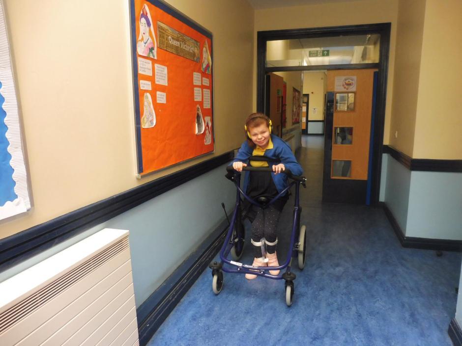 I love using my walker in school!