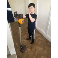Hoovering up!