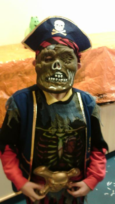 James dressed as a pirate... Ooo - Arrrrrr